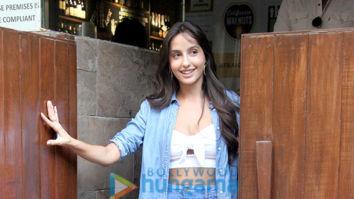 Nora Fatehi snapped at Indigo