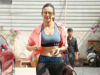 Rakul Preet Singh snapped at the gym