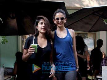 Rhea Chakraborty and Rakul Preet Singh spotted at Kitchen Garden