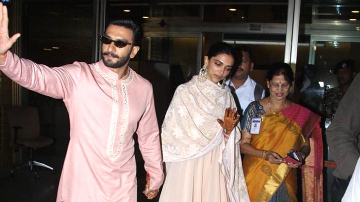 SPOTTED: Ranveer Singh - Deepika Padukone return from ...