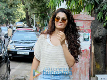 Saiyami Kher snapped at Indigo Delicatessen
