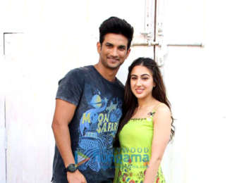 Sara Ali Khan and Sushant Singh Rajput spotted in Mehboob Studios for Kedarnath promotions