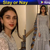 Slay or Nay - Aditi Rao Hydari in Ridhi Mehra for an art exhibit