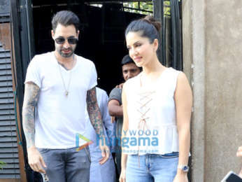 Sunny Leone snapped with husband Daniel Weber in Juhu