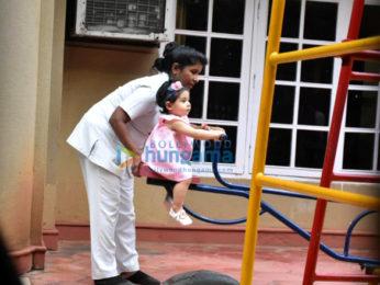 Taimur Ali Khan and Inaaya Naumi Kemmu spotted at play school