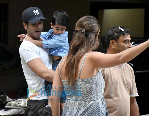 Taimur Ali Khan and Tusshar Kapoor's son Laksshya spotted in Bandra (1)