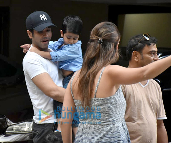 Taimur Ali Khan and Tusshar Kapoor's son Laksshya spotted in Bandra (2)