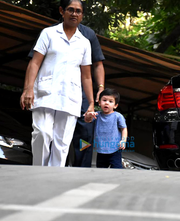 Taimur Ali Khan spotted at a playschool in Bandra