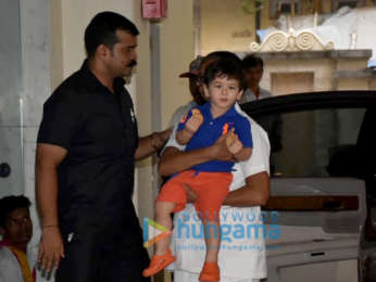 Taimur Ali Khan spotted at his playschool