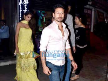 Tiger Shroff, Disha Patani and Athiya Shetty spotted at Bastian in Bandra