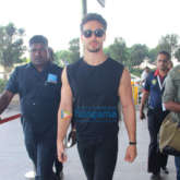 Tiger Shroff and Sunny Leone snapped at the airport