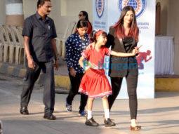 Aaradhya Bachchan, Aishwarya Rai Bachchan, Abhishek Bachchan, Gauri Khan snapped at Dhirubhai Ambani International School Annual Day 2018