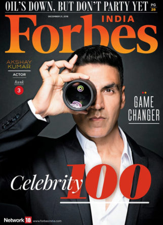 Akshay Kumar On The Cover Of Forbes, Dec 2018