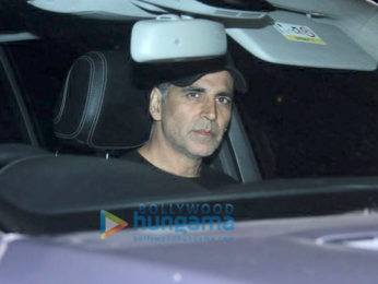 Akshay Kumar with Twinkle and Aarav Kumar at Soho House, Juhu