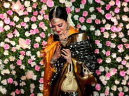 Film actress Rekha spotted at Kapil-Ginni Weddiing Reception