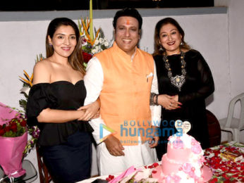 Govinda snapped with wife and daughter on his birthday