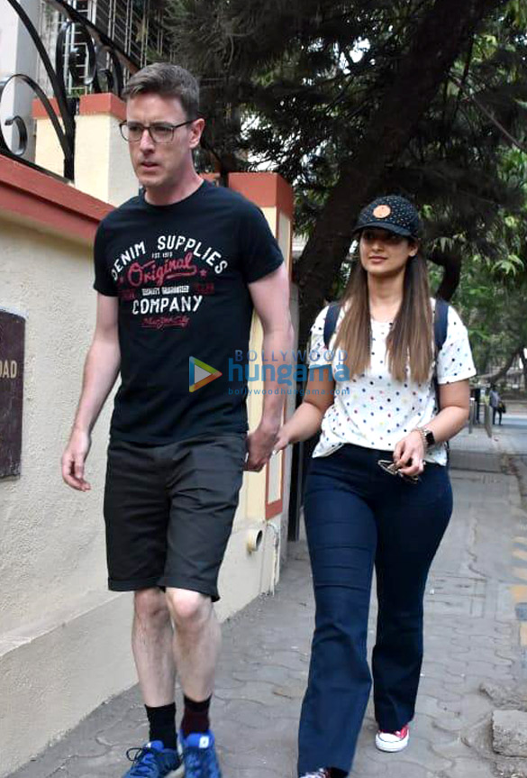 Ileana D'Cruz snapped with Andrew Kneebone spotted in Bandra