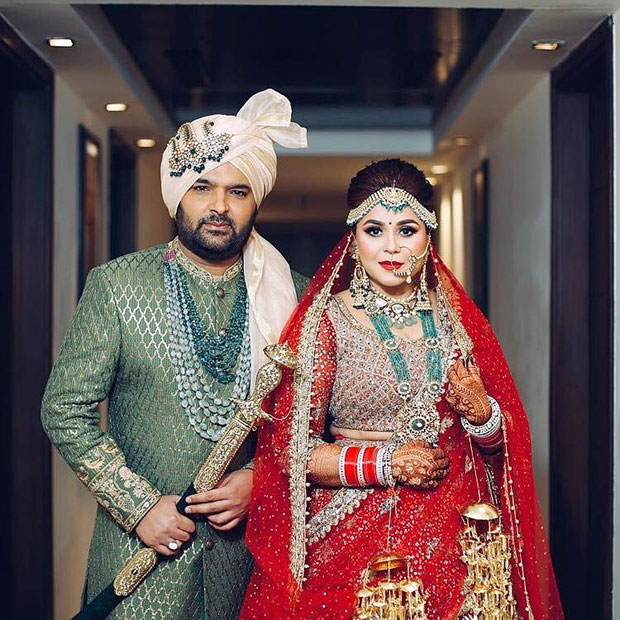 Inside Kapil Sharma and Ginni Chatrath's wedding The comedian and his wife pose in Proper Punjabi style