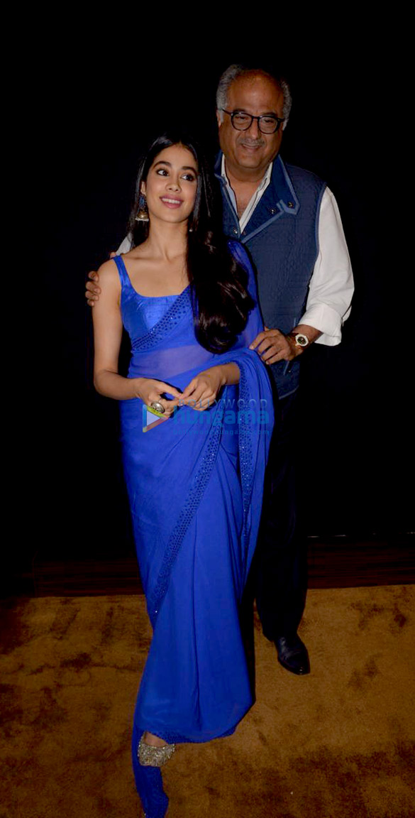Janhvi Kapoor and Boney Kapoor snapped during felicitation at Royal Consulate of Norway (1)