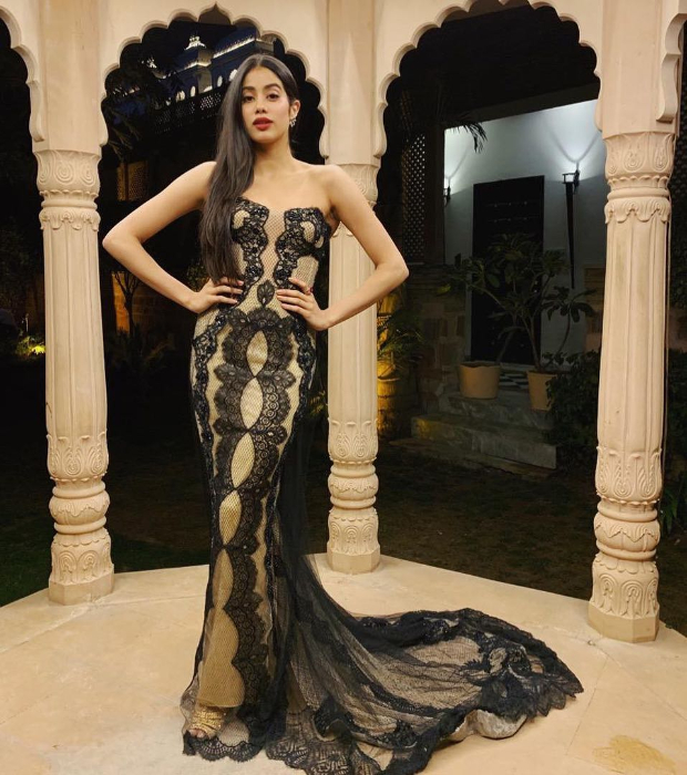 Janhvi Kapoor - The millennial stunner is always a delight! She has not only inherited the genetic jackpot of classic good looks but also a style sense to boot. Styled by Tanya Ghavri, Janhvi goes on to slay one stunning style after another that's only upped by a stunning beauty game. The pre-wedding festivities of Isha Ambani and Anand Piramal saw Janhvi Kapoor in Reem Acra ensemble. Also Read: Janhvi Kapoor smoulders all whilst competing with herself as the cover girl for L'Officiel this month! The strapless black and gold lace ensemble was form fitting and featured a trail. Janhvi accessorised her look with earrings and rings from Renu Oberoi along with open-toed gold toned sandals. Also Read: Here's the REAL reason why Janhvi Kapoor found emotional anchors in Arjun and Anshula Kapoor Side swept sleek hair, bright lips and delicately lined eyes. Also Read: Slay or Nay: Janhvi Kapoor in Topshop at #SocialForGood Facebook Liveathon On the professional front, Janhvi Kapoor debuted with Dhadak opposite Ishaan Khatter. She will be seen in the period drama, Takht by Karan Johar that features an impressive ensemble cast of Ranveer Singh, Alia Bhatt, Bhumi Pednekar, Kareena Kapoor Khan and Anil Kapoor. She will also feature in a biopic on the life and times of the brave pilot – Gunjan Saxena opposite Dulquer Salmaan.
