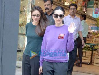 Kareena Kapoor Khan, Karisma Kapoor and Taimur Ali Khan snapped in Bandra