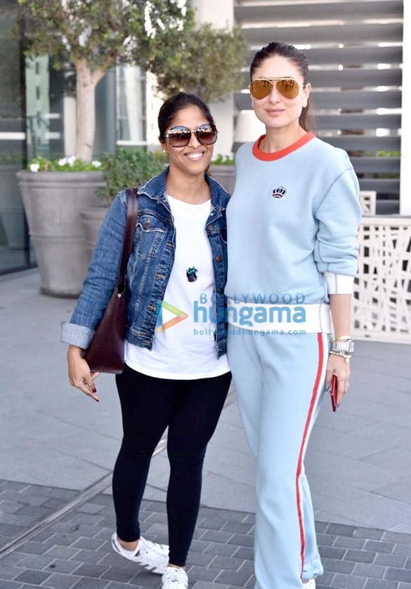 Kareena Kapoor Khan and Kartik Aaryan snapped arriving for the Masala Awards 2018 in Dubai