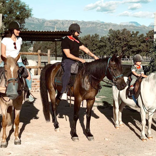 Kareena Kapoor, Saif Ali Khan go horse riding with son Taimur in South Africa. See pics
