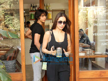 Malaika Arora snapped with her son Arhaan Khan at Sequel