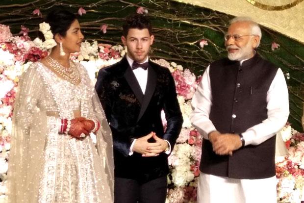 Prime Minister Narendra Modi attends Priyanka Chopra - Nick Jonas reception