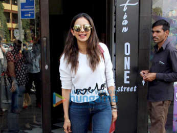 Rakul Preet Singh spotted at Bastian in Bandra