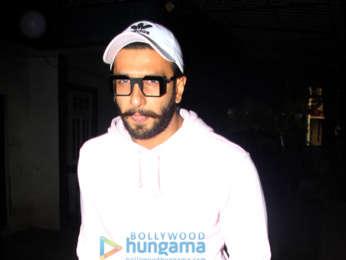 Ranveer Singh snapped at a dubbing studio
