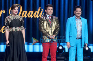 Raveena Tandon snapped on the sets of Saregama Lill Champs