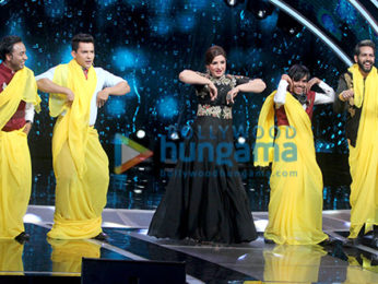Raveena Tandon snapped on the sets of Saregama Lill Champs
