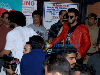 Rohit Shetty, Ranveer Singh snapped at Gaiety Theatre, in Bandra