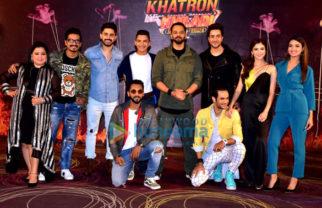 Rohit Shetty, Vikas Gupta, Jasmine Bhasin, Aditya Narayan and others snapped at Khatron Ke Khiladi press meet