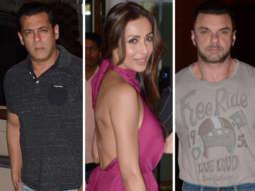 Salman Khan, Malaika Arora, Amrita Arora and others arrive at Arpita Khan residence to celebrate Salma Khan's birthday