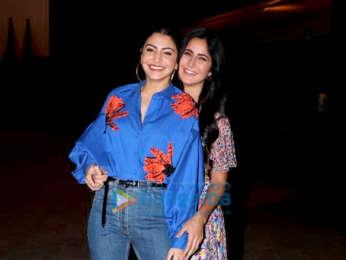 Shah Rukh Khan, Anushka Sharma, Katrina Kaif and Aanand L Rai snapped during Zero promotions at Taj Lands End, Bandra