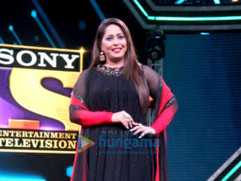 Shilpa Shetty, Anurag Basu and Geeta Kapoor snapped at the launch of Super Dancer 3