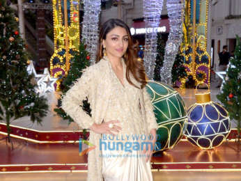 Soha Ali Khan snapped at the inauguration of X'mas Decor inspired by the Nutcracker Ballet