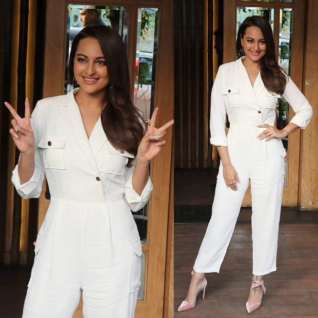 Sonakshi Sinha in Storets jumpsuit for an interview taping (1)