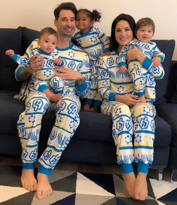 Sunny Leone - Daniel Weber and their three kids pose for the cutest FAMILY PICTURE!