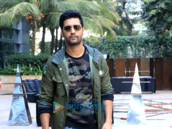 Vicky Kaushal snapped promoting his upcoming film 'Uri'