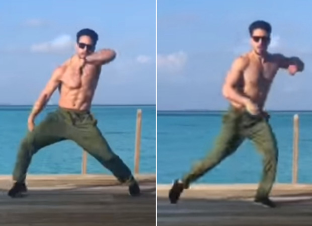 WATCH: Tiger Shroff flaunts his ab-tastic body while 'taking it easy' on Shahid Kapoor - Kiara Advani's 'Urvasi Urvasi'