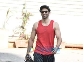 Aditya Roy Kapur spotted at the gym in Bandra