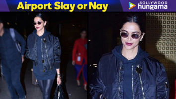 Airport Slay or Nay - Deepika Padukone in Givenchy on her way back from Paris (Featured)