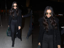 Airport Slay or Nay - Deepika Padukone in all black at the airport (Featured)