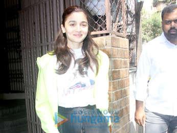 Alia Bhatt snapped outside a recording studio