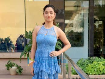 Ankita Lokhande snapped during Manikarnika - The Queen Of Jhansi promotions at Novotel, Juhu