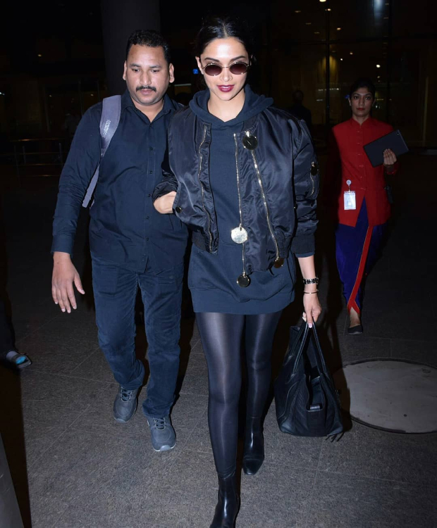 Deepika Padukone in Givenchy on her way back from Paris (1)