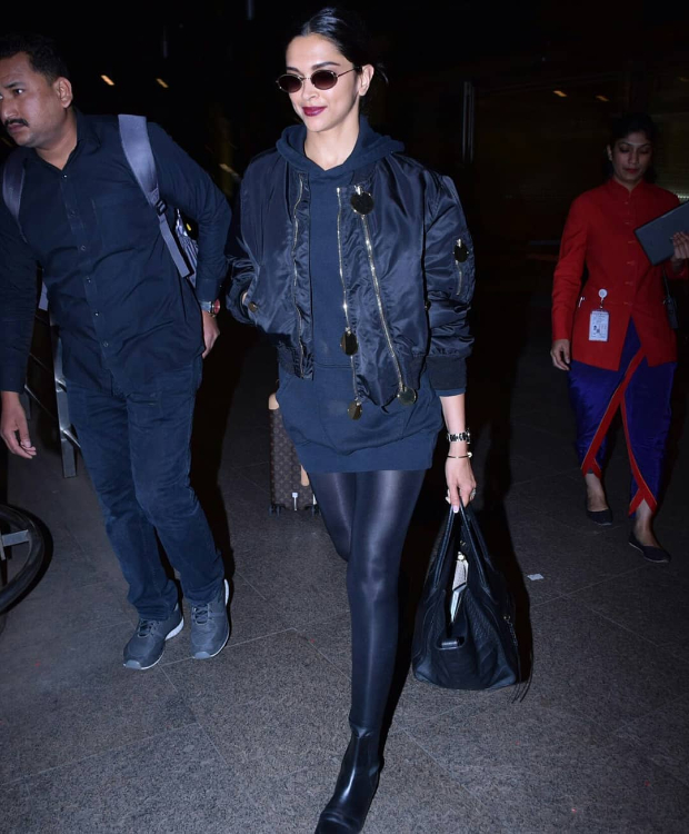 Deepika Padukone in Givenchy on her way back from Paris (3)